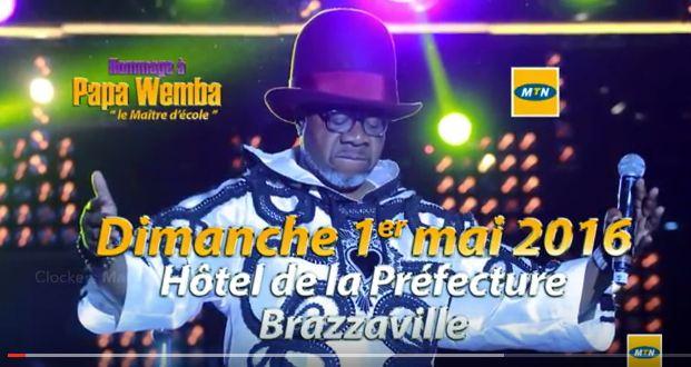 Concert en Hommage à Papa Wemba à Brazzaville