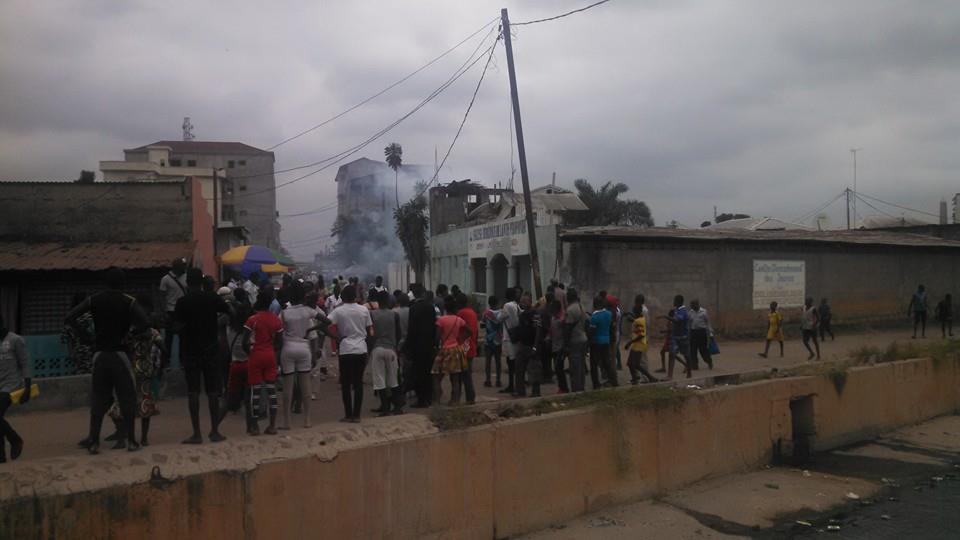 Un phénomène étrange ce 04 juillet 2016 au rond-point Moungali à Brazzaville
