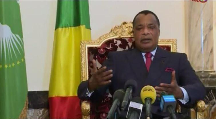 Sassou Nguesso devant la presse nationale et internationale ce mercredi 9 novembre 2016
