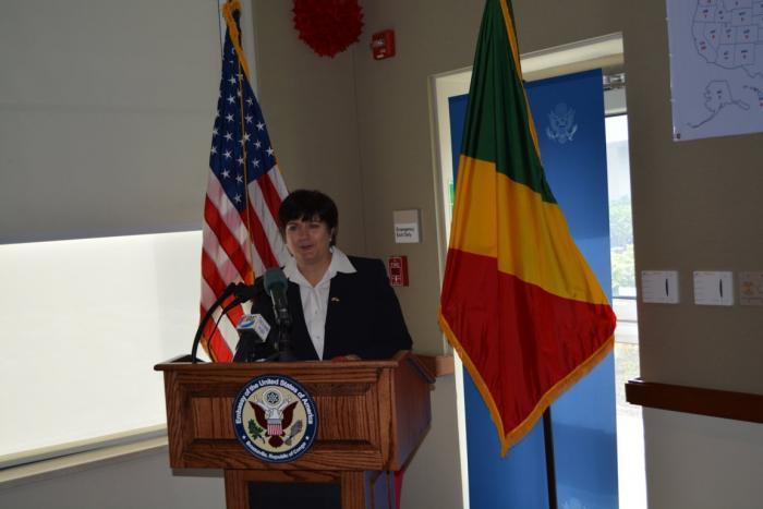 Fin de mission : Discours de l'ambassadeur des Etats-Unis d'Amérique au Congo, Madame Stéphanie Sullivan
