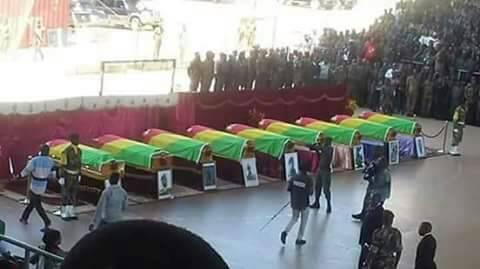 Dépouilles des militaires tués dans le Pool