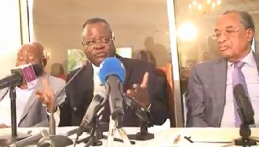 Conférence de Presse du Collectif des Partis de l'opposition congolaise : Non aux élections [Vidéo]
