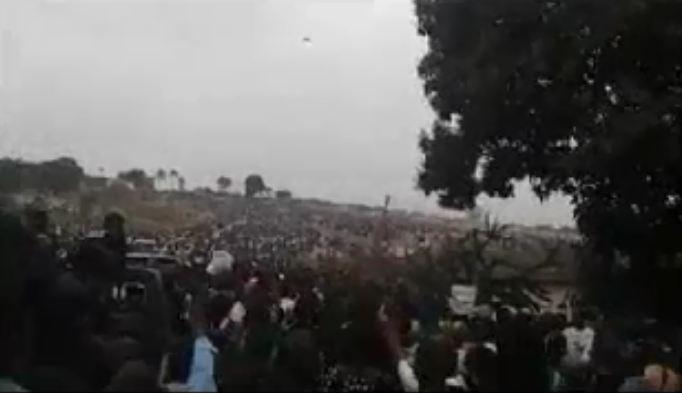 Plus de 100 000 personnes lors de l'inhumation des militants de l'UDH-YUKI [Vidéo]