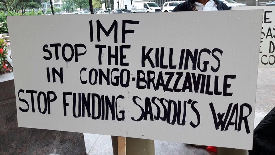 15 Août 2017 : Manifestation devant le siège du FMI à Washington