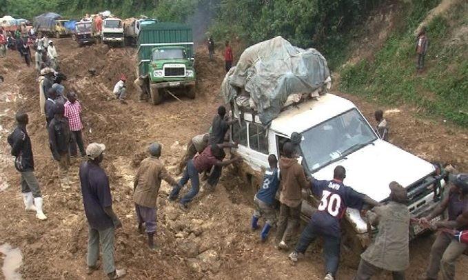 Forte dégradation de la route Dolisie-Londéla-Kayes