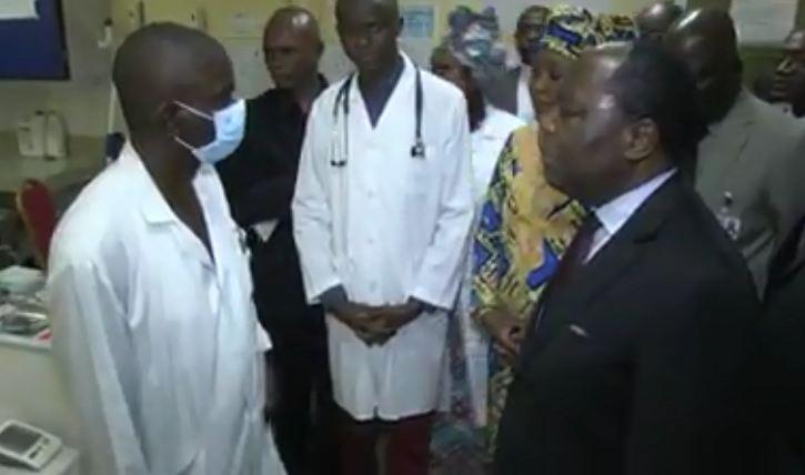 Clément Mouamba en touriste au CHU de Brazzaville [Vidéo]