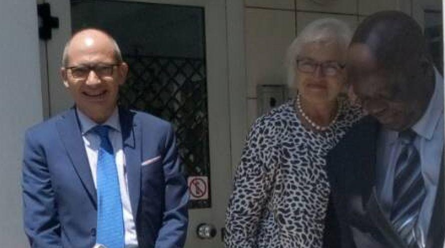 Point sur la rencontre entre l'Ambassadrice de l'Union Européenne Saskia de Lang et Guy Brice Parfait Kolelas