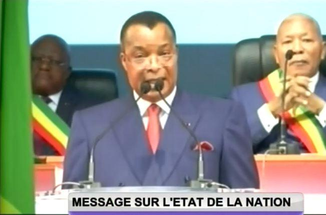 Message sur l'état de la nation du Président Sassou Nguesso [Vidéo]