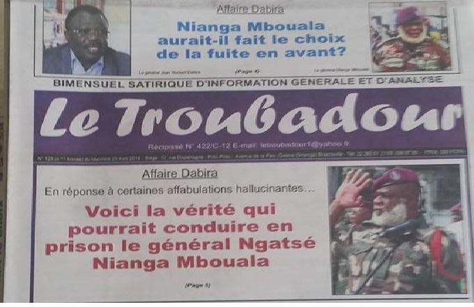 Le général Nianga Ngatsé Mbouala se dit »piégé» par le contre-amiral Jean Dominique Okemba