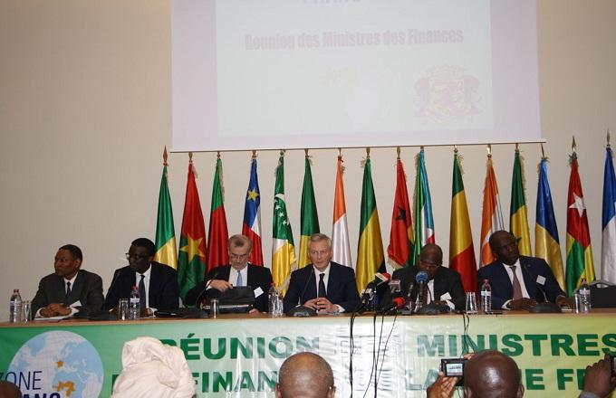 Communiqué de presse final de la réunion des ministres des Finances de la Zone franc