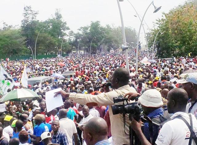 Cérémonie solennelle de signature du Mémorandum de l'opposition