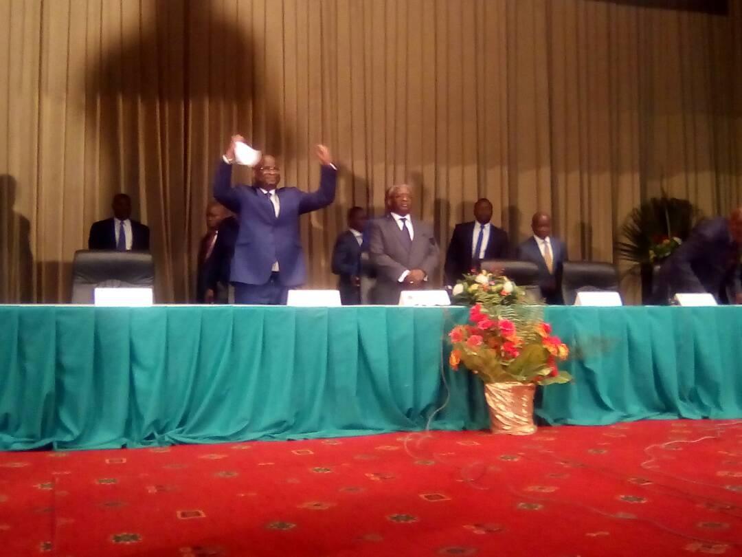 Signature du mémorandum de l'opposition congolaise