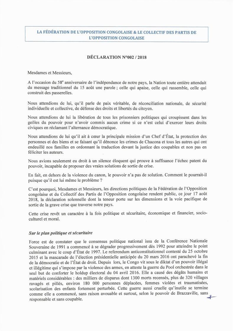 Brazzaville: l'opposition Congolaise se réveille enfin ... dans Politique fed-opp-col-opp-15aout_001