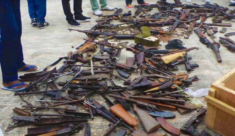 Environ 8007 armes et explosifs ramassés dans le Pool