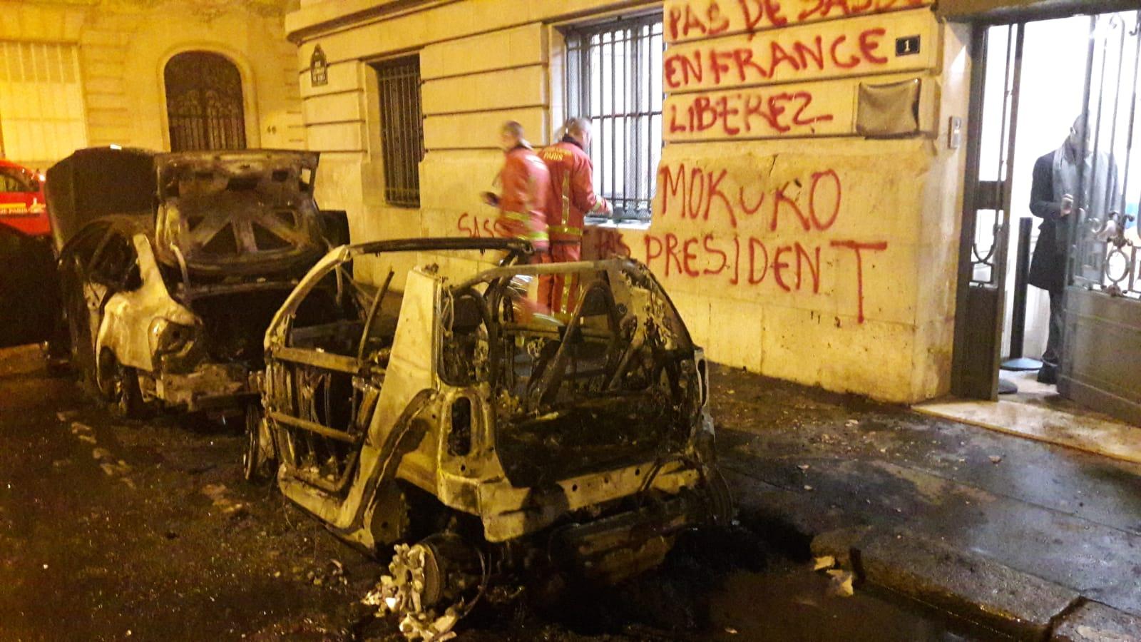 Arrêt sur images : L'ambassade du Congo en France vandalisée