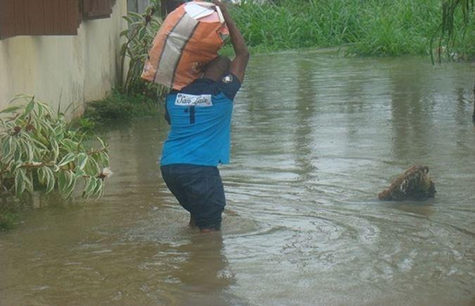 La pluie a fait des dégâts à Makabana