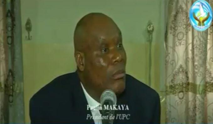 Conférence de presse de Paulin Makaya, Président de l'UPC