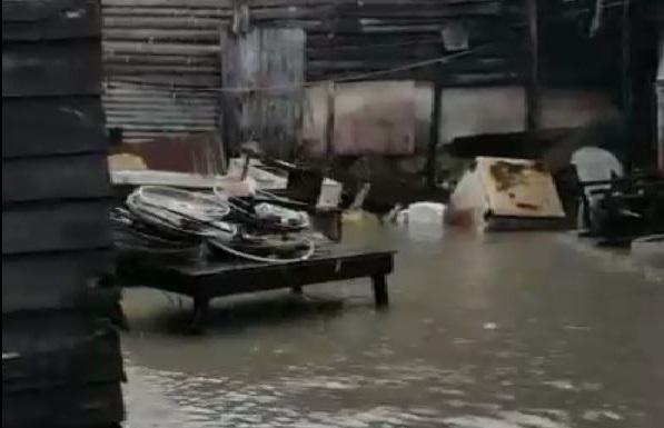 Pluie diluvienne à Dolisie et à Pointe-Noire