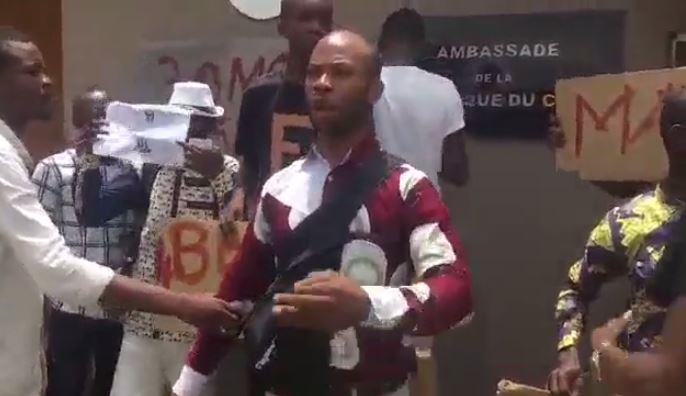 Manifestation des étudiants Congolais de Côte d'ivoire