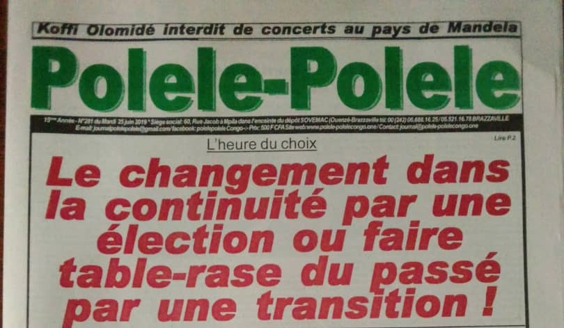 L'heure du choix : Le changement dans la continuité par une élection ou faire table-rase du passé par une transition !
