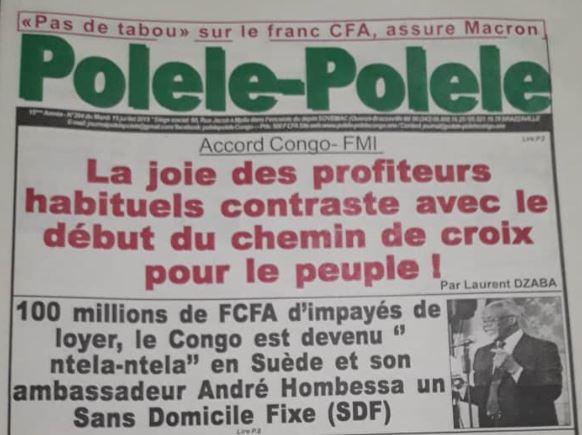 Accord entre le FMI et le Congo: La joie des profiteurs habituels contraste avec le début du chemin de croix pour le peuple !