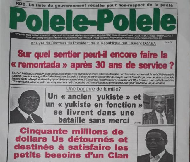 M. Sassou Nguesso donne une allure héroïque à son discours creux et sans vision : Sans vraies réformes, on va droit dans le mur !