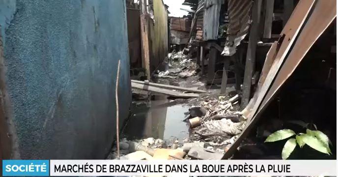 Marchés de Brazzaville dans la boue après la pluie