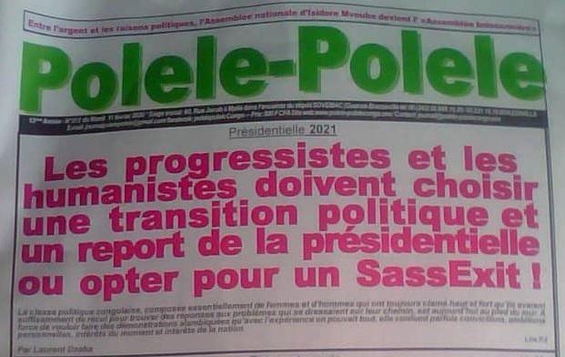 Pour 2021, les progressistes et les humanistes devraient s'engager en faveur d'une transition politique et d'un ajournement de l'élection présidentielle ou opter pour un SassExit !
