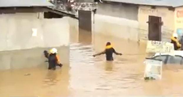 Dégâts de la pluie à Mfilou et Talangaï