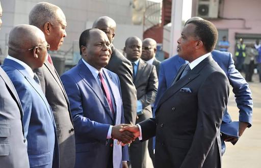 Sassou Nguesso au vert et Clément Mouamba au charbon