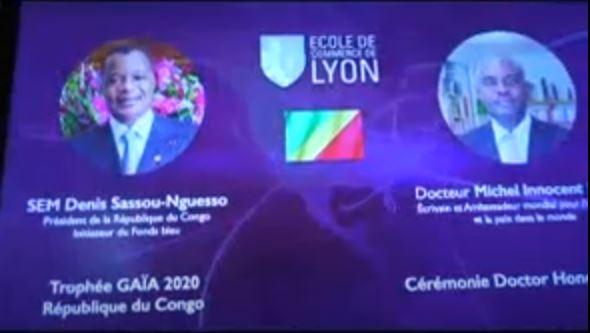 Prix Gaïa 2020 : le Président Denis Sassou Nguesso récompensé, Michel Innocent Peya a réceptionné le prestigieux trophée en France