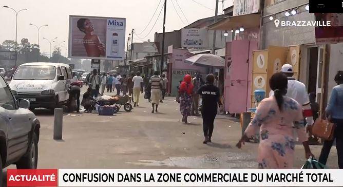 Confusion dans la zone commerciale du marché Total (Vidéo)