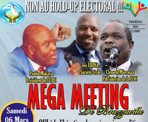 6 mars 2021: Méga Meeting de l'opposition à Brazzaville